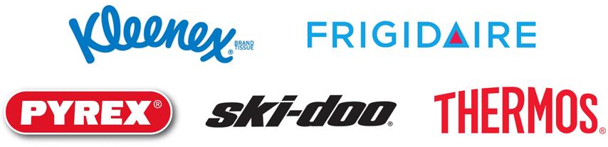 Logos Kleenex Frigidaire Pyrex Ski-doo Thermos