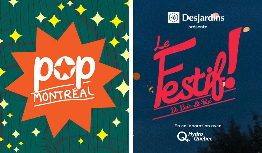 Festivals Pop Montréal et Le Festif