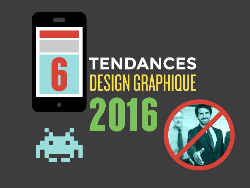 6 Tendances Design graphique 2016